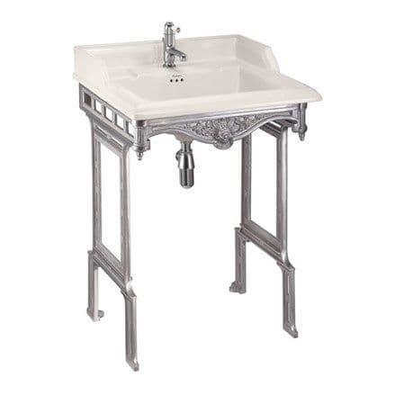 Burlington Classic Medici 65cm Basin & Brushed Aluminium Wash Stand