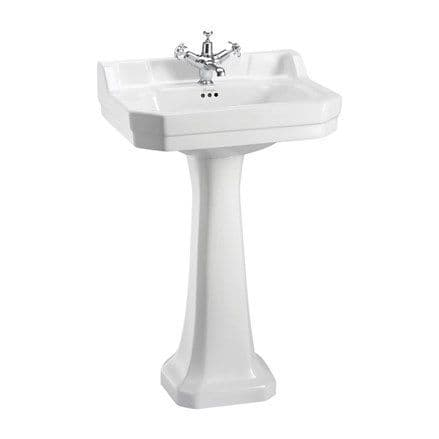 Burlington Edwardian 56cm Basin & Pedestal