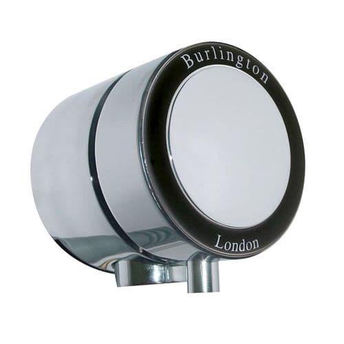 Burlington Overflow Bath Filler With Black Ceramic For Double End Baths