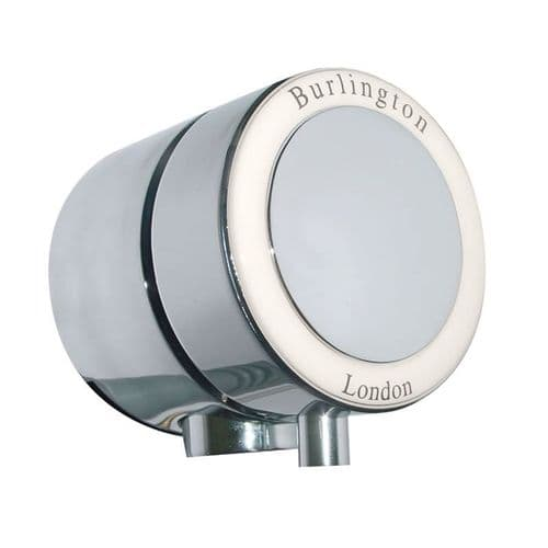 Burlington Overflow Bath Filler With Medici Ceramic For Double End Baths