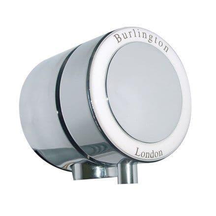 Burlington Overflow Bath Filler With White Ceramic For Double End Baths