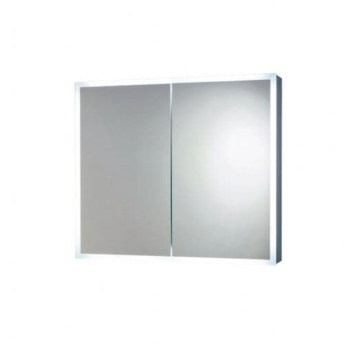 Cudos Aim 600mm x 700mm LED Double Door Cabinet With Demister Pad & Shaver/Toothebrush Socket