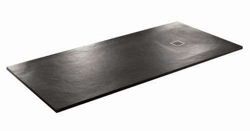 JT Softstone 1000 x 800 Black Slate Effect Shower Tray