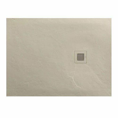 JT Softstone 1000 x 800 Cream Slate Effect Shower Tray