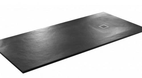 JT Softstone 1200 x 900 Black Slate Shower Tray