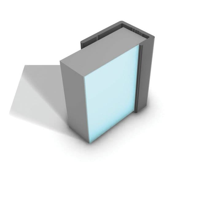 Multipanel Aluminium Tile Panel End Cap Type F