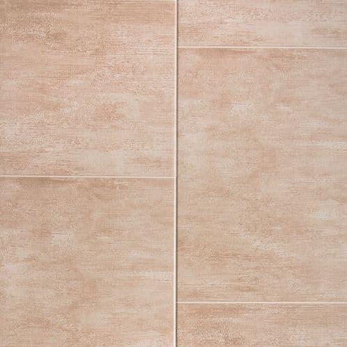 Proplas Beige Large Tile 2.7m x 400mm PVC Wall Panelling