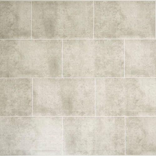 Proplas Stone Grey Large Tile 2.8m x 400mm PVC Wall Panelling