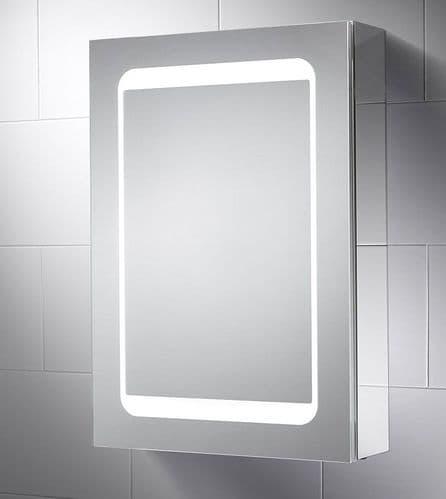 Sensio Belle Dual Lit Single Door LED Mirror Cabinet 700mm x 500mm