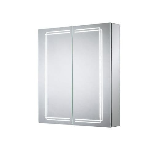 Sensio Harlow Double Door Diffused LED Mirror Cabinet 700mm x 600mm