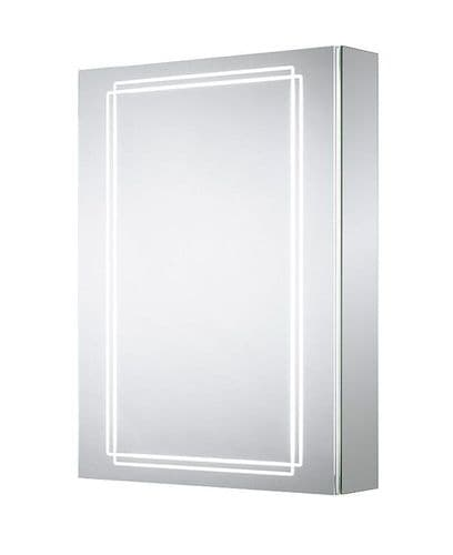 Sensio Harlow Single Door Diffused LED Mirror Cabinet 700mm x 500mm