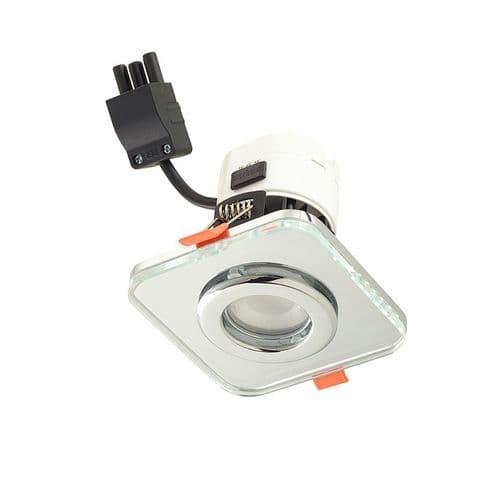 Sensio TrioTone Cube Clear Glass Downlight