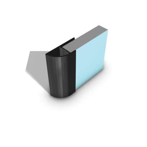 Showerwall Aluminium Quadrant End Cap