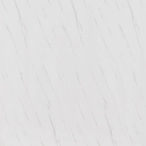 Splashpanel White Marble Matt 1000mm PVC Shower Wall Panel