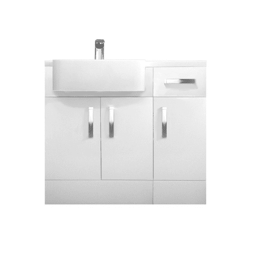 Tavistock Courier 900mm Combination Unit Gloss White With Isocast Basin