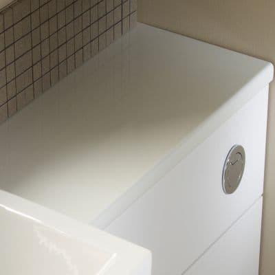 Tavistock Courier Slimline 1500mm Worktop White