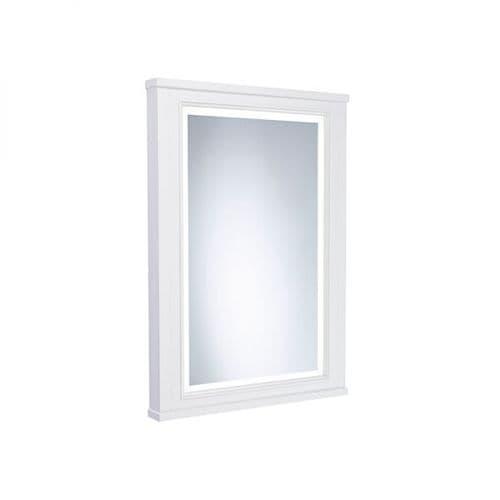 Tavistock Lansdown 450mm Framed Illuminated Mirror Linen White