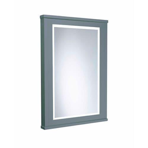 Tavistock Lansdown 450mm Framed Illuminated Mirror Mineral Blue