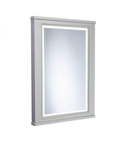 Tavistock Lansdown 600mm Framed Illuminated Mirror Pebble Grey