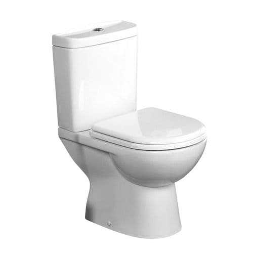 Tavistock Micra Close Coupled WC Pan, Cistern & Soft Close Seat