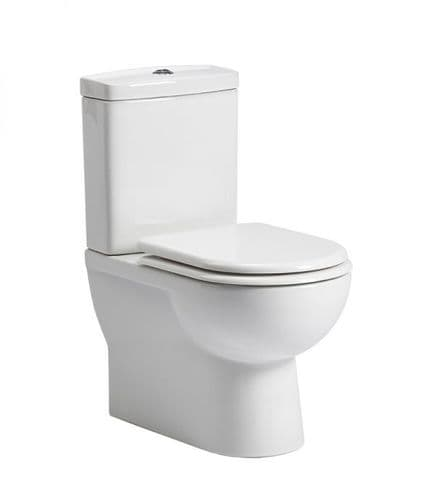 Tavistock Micra Fully Enclosed Close Coupled WC Pan, Cistern & Soft Close Seat