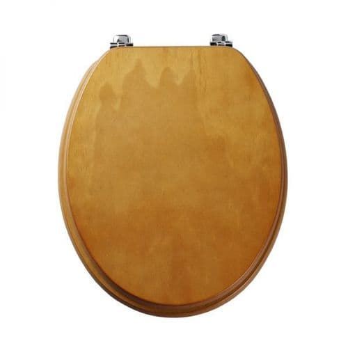 Tavistock Millennium Antique Pine Wood Veneer Traditional Toilet Seat