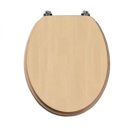 Tavistock Millennium Beech Wood Veneer Traditional Toilet Seat