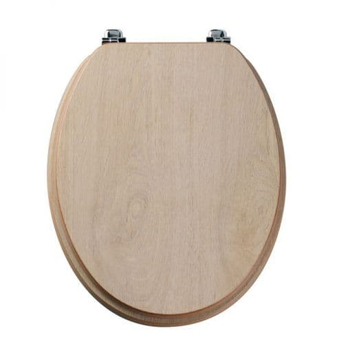 Tavistock Millennium Limed Oak Wood Veneer Traditional Toilet Seat