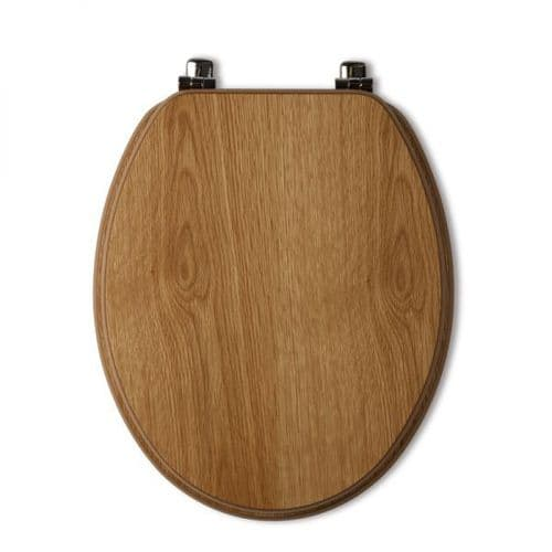 Tavistock Millennium Natural Oak Wood Veneer Traditional Toilet Seat