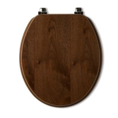 Tavistock Millennium Walnut Wood Veneer Traditional Toilet Seat