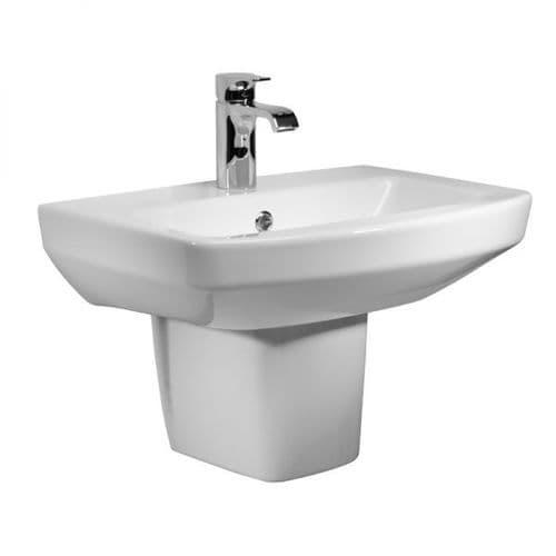 Tavistock Vibe 550mm Basin & Semi Pedestal
