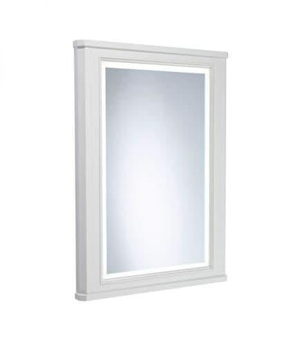 Tavistock Vitoria 600mm Framed Illuminated Mirror Linen White