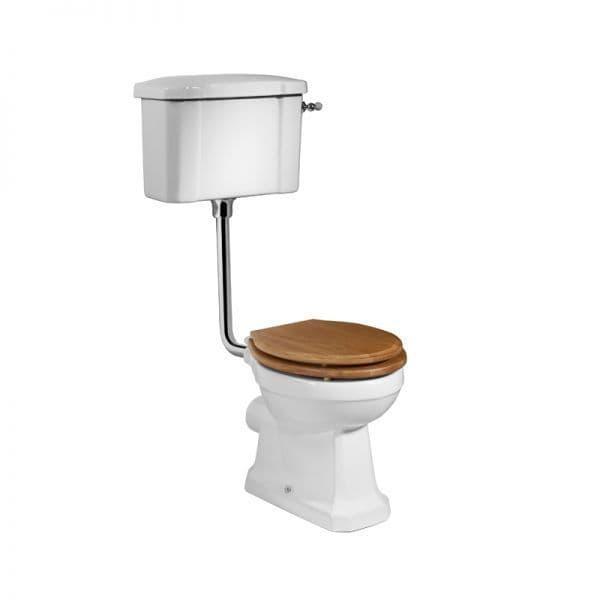Tavistock Vitoria Low Level WC Pan, Cistern & Chrome Downpipe