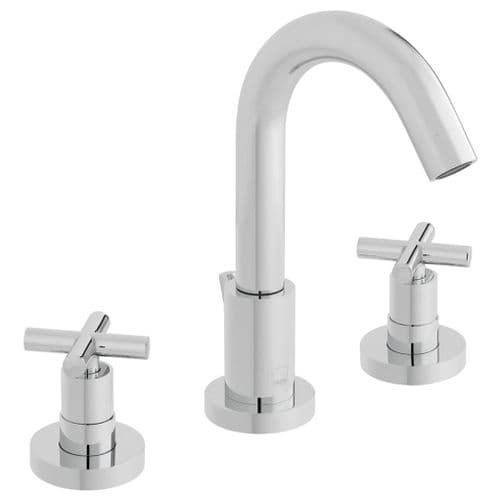 Vado Elements Water 3 Hole Basin Mixer With Pop-Up Waste