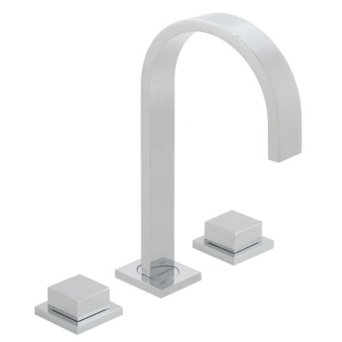 Vado Geo 3 Hole Basin Mixer With Square Handles
