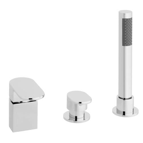 Vado Life 3 Hole Bath Shower Mixer For Use With A Bath Filler Waste & Overflow