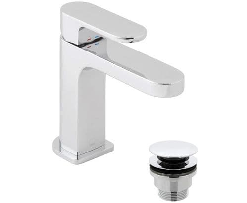 Vado Life Smooth Bodied Slim Mono Basin Mixer With Universal Waste