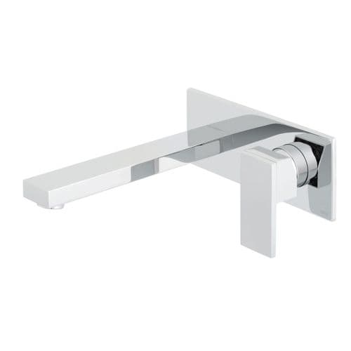 Vado Notion Wall Mounted Basin Mixer With 220mm Spout & Rectangular Back Plate