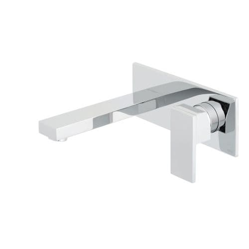 Vado Notion Wall Mounted Basin Mixer With Rectangular Back Plate