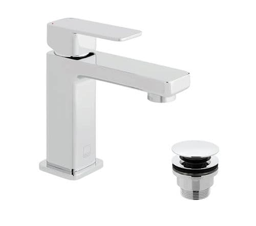 Vado Phase Smooth Bodied Mini Mono Basin Mixer With Universal Waste