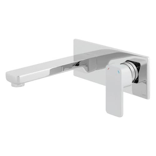Vado Phase Wall Mounted Basin Mixer With Rectangular Back Plate