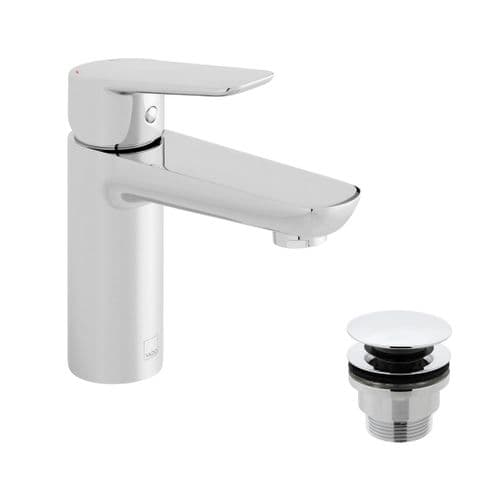 Vado Photon Smooth Bodied Mono Basin Mixer With Universal Waste