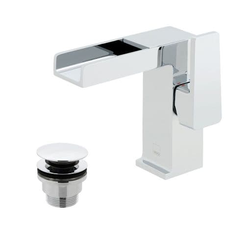 Vado Synergie Mono Basin Mixer With Waterfall Spout & Universal Waste