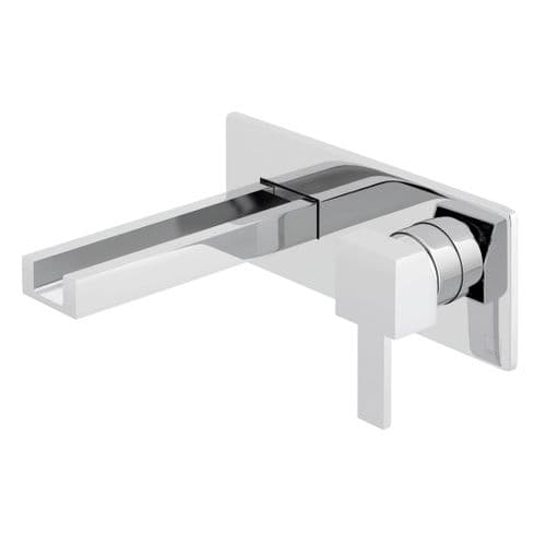 Vado Té Falls Wall Mounted Basin Mixer With Waterfall Spout