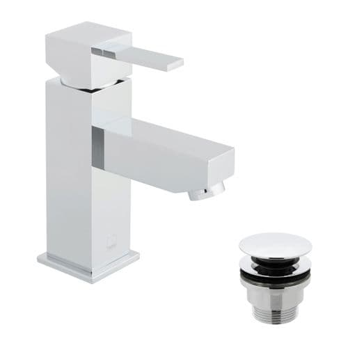 Vado Té Smooth Bodied Mono Basin Mixer With Universal Waste