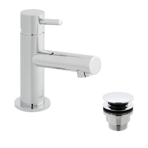 Vado Zoo Smooth Bodied Mini Mono Basin Mixer With Universal Waste