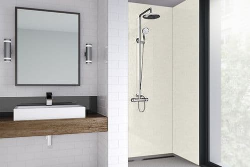 Wetwall White Frost Gloss Shower Wall Panel