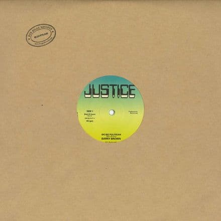 Barry Brown - Big Big <Pollution> Politician / No Wicked Shall Enter (Justice / Dub Store) 12