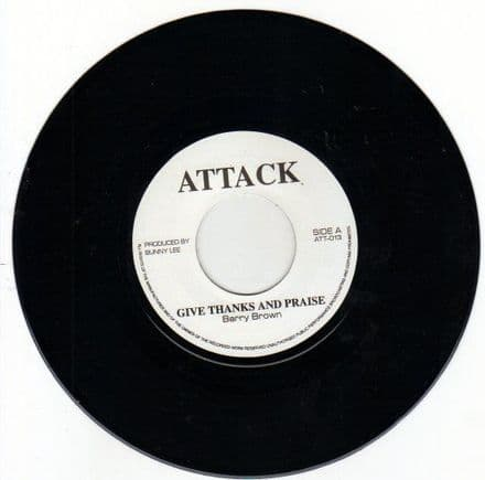Barry Brown - Give Thanks & Praise / version (Attack) 7