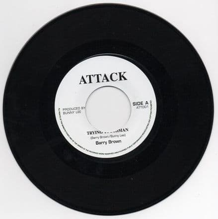 Barry Brown - Trying Youthman / Let's Go To The Blues (Attack) UK 7